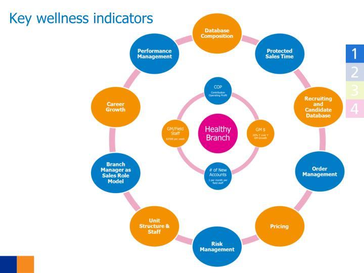 Key wellness indicators