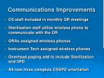 communications improvements