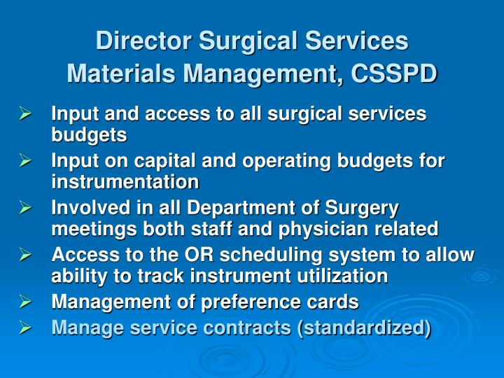 Director Surgical Services