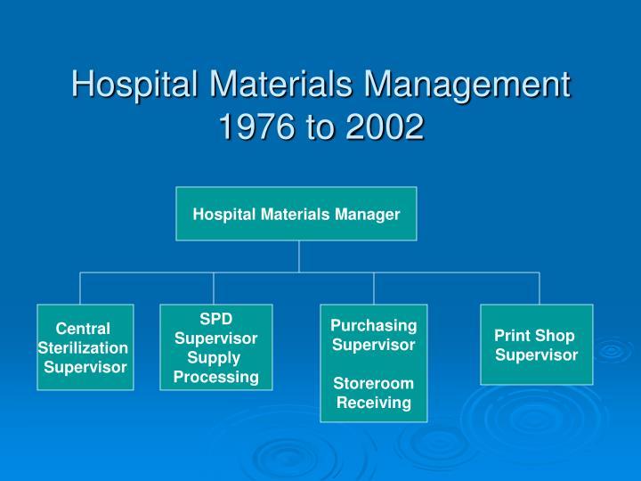 Hospital Materials Management