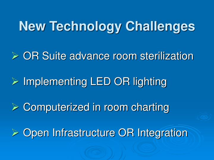 New Technology Challenges