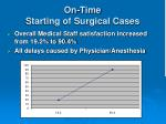 on time starting of surgical cases