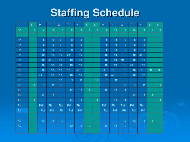 Staffing Schedule