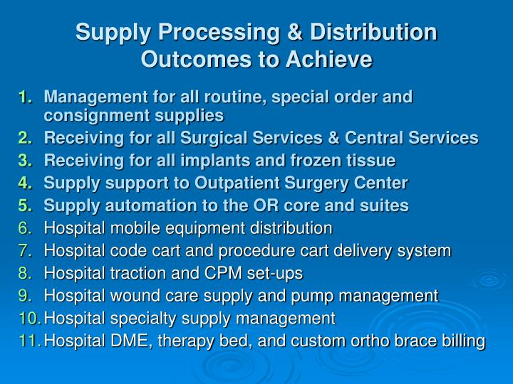 Supply Processing & Distribution