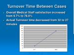turnover time between cases