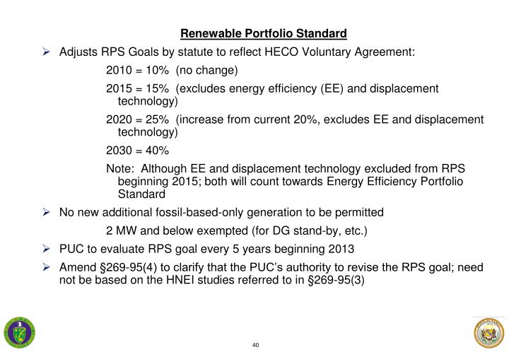 Renewable Portfolio Standard