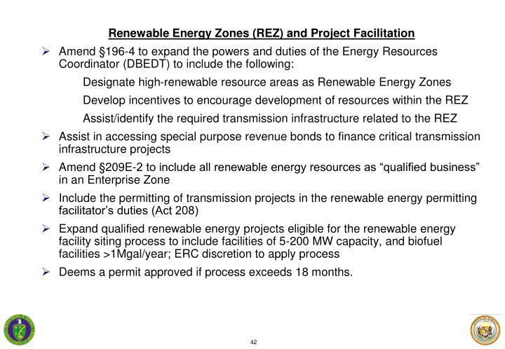 Renewable Energy Zones (REZ) and Project Facilitation
