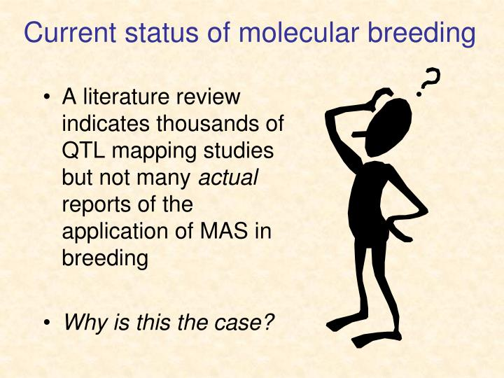 Current status of molecular breeding