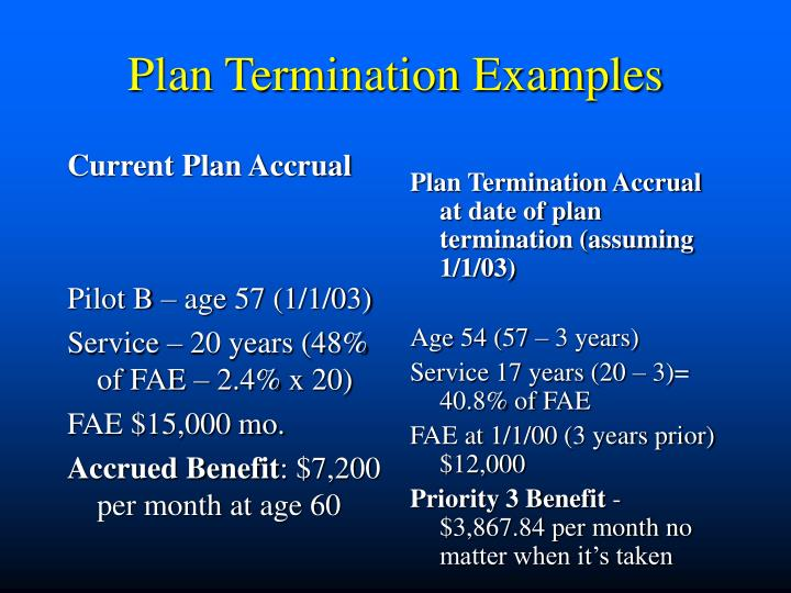 Current Plan Accrual