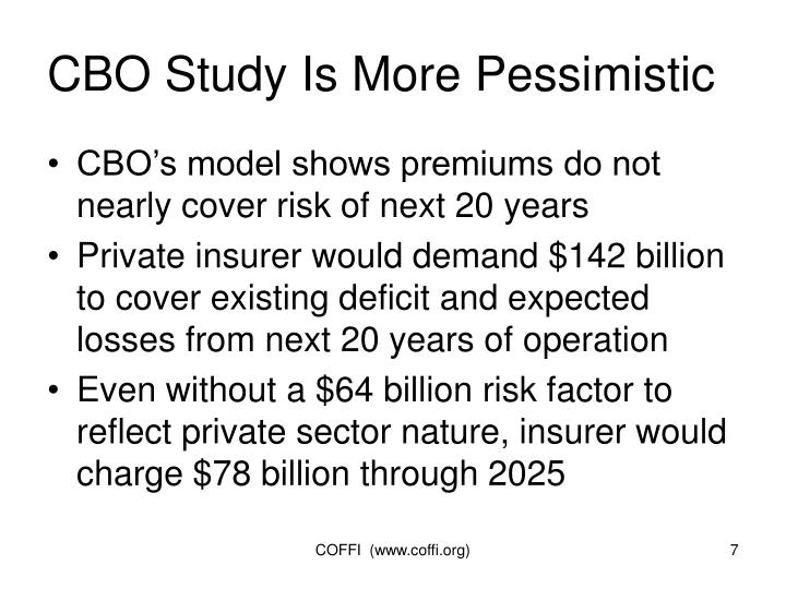 CBO Study Is More Pessimistic