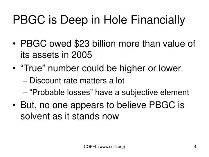 PBGC is Deep in Hole Financially