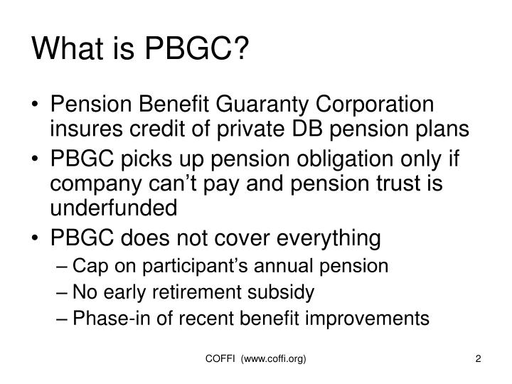 What is pbgc