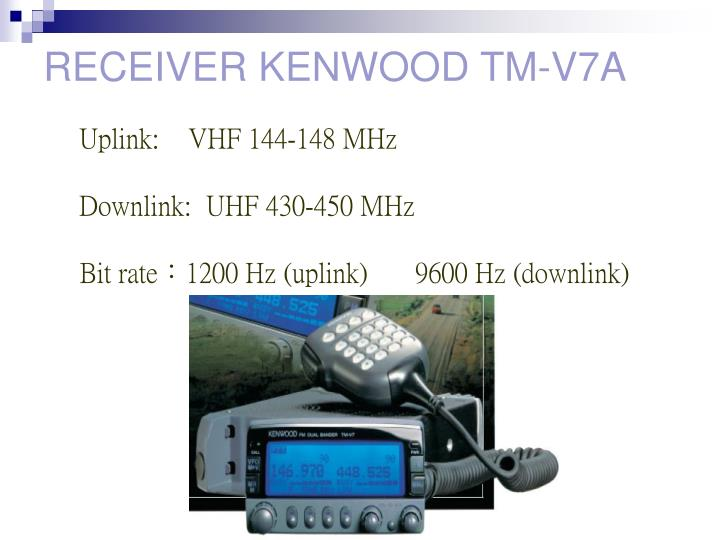 RECEIVER KENWOOD TM-V7A