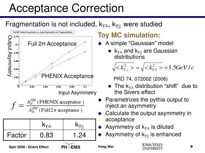 Acceptance Correction
