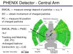 phenix detector central arm