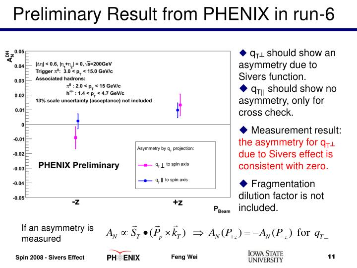 Preliminary Result from PHENIX in run-6