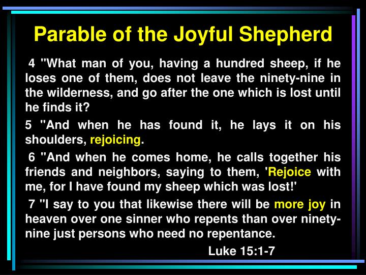 Parable of the Joyful Shepherd