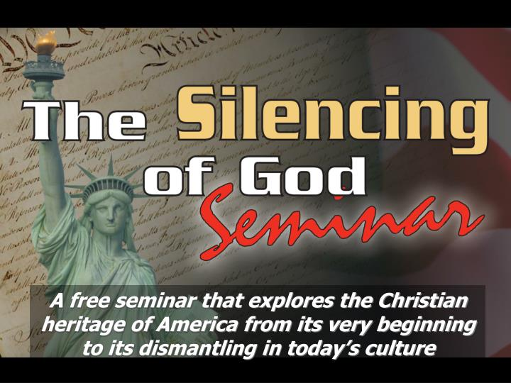 A free seminar that explores the Christian heritage of America from its very beginning to its dismantling in today's culture