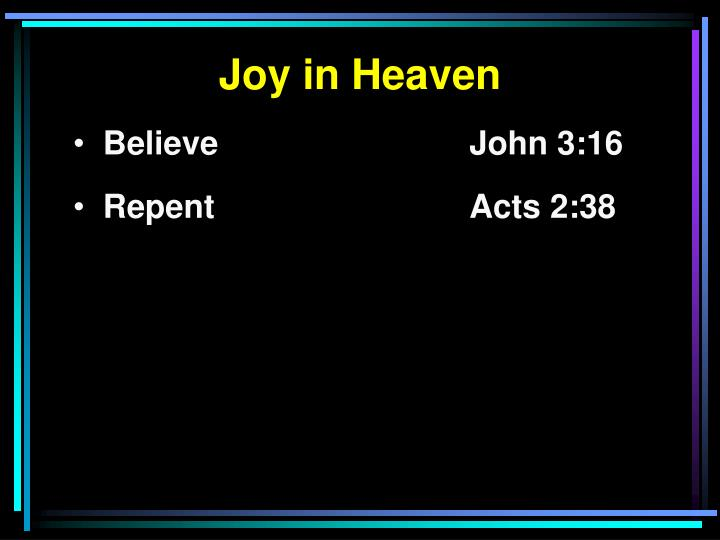 Joy in Heaven