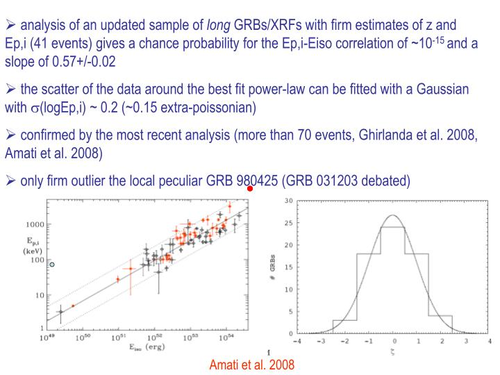 analysis of an updated sample of