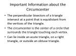 important information about the circumcenter