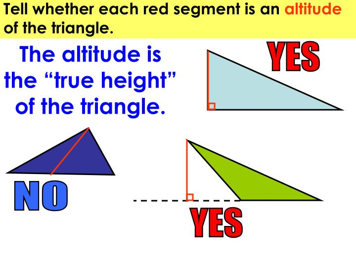 Tell whether each red segment is an