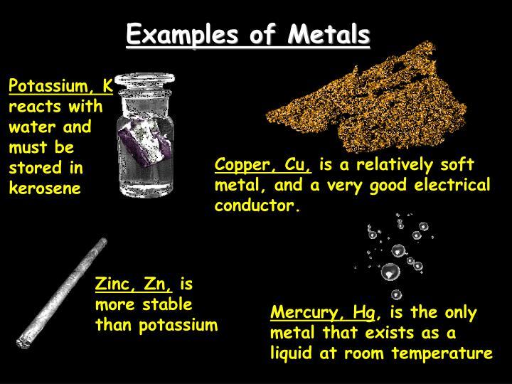 Examples of Metals