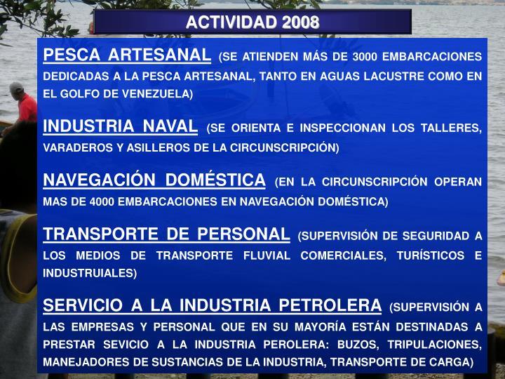 ACTIVIDAD 2008