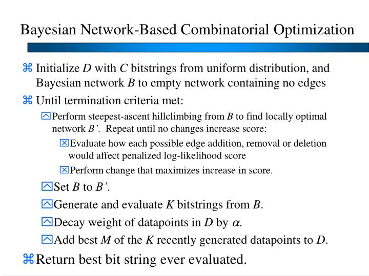 Bayesian Network-Based Combinatorial Optimization
