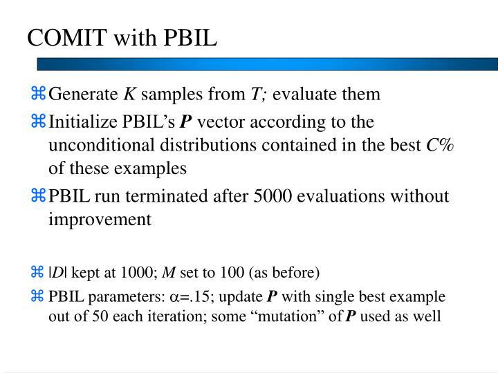 COMIT with PBIL