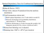 optimal dependency trees for combinatorial optimization
