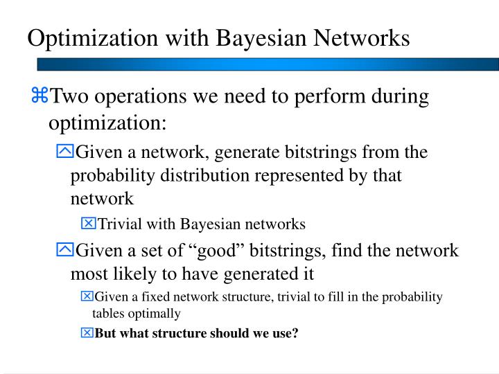 Optimization with Bayesian Networks
