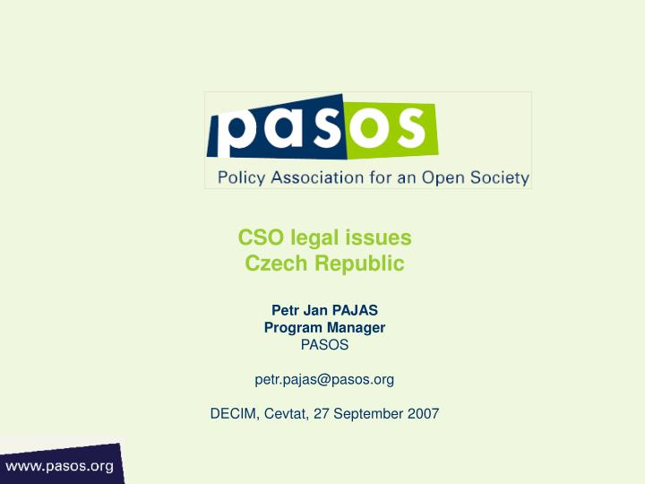 CSO legal issues
