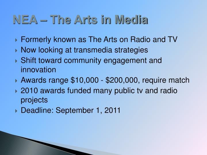 NEA – The Arts in Media
