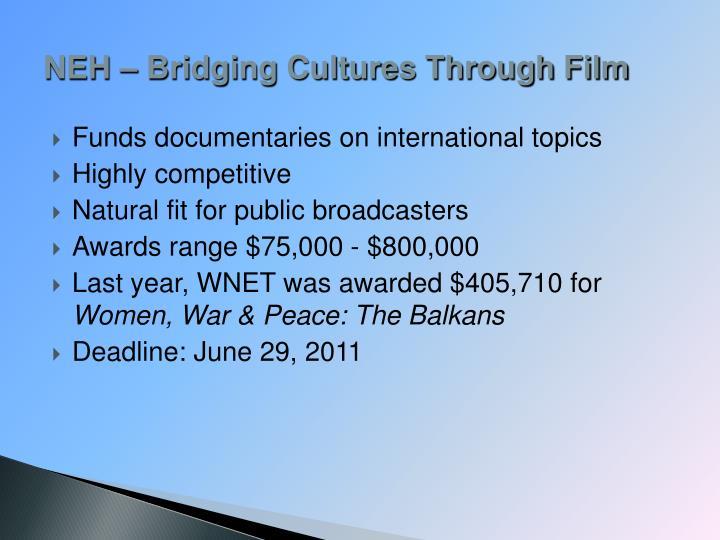 NEH – Bridging Cultures Through Film