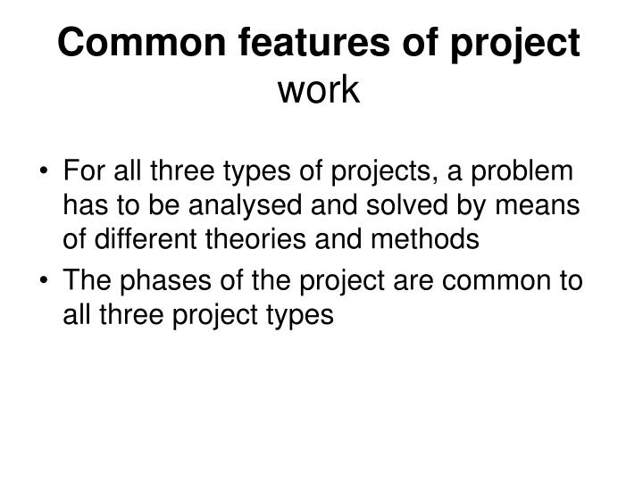 Common features of project