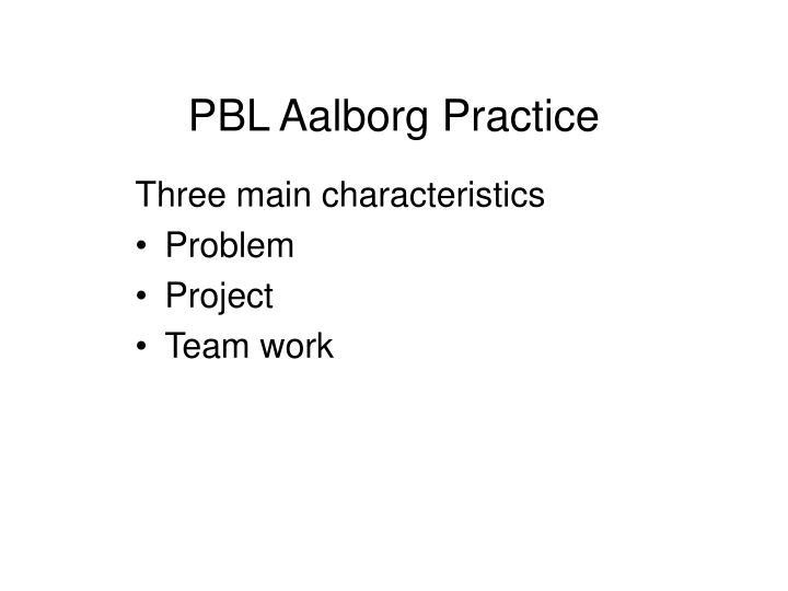 PBL Aalborg Practice