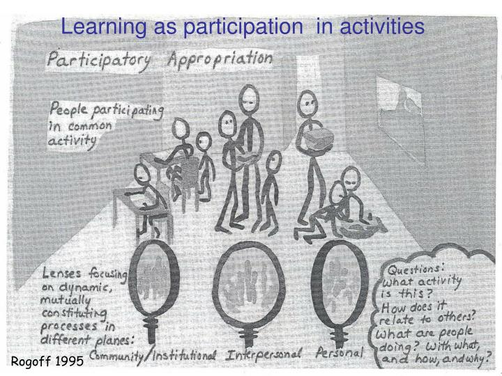 Learning as participation  in activities