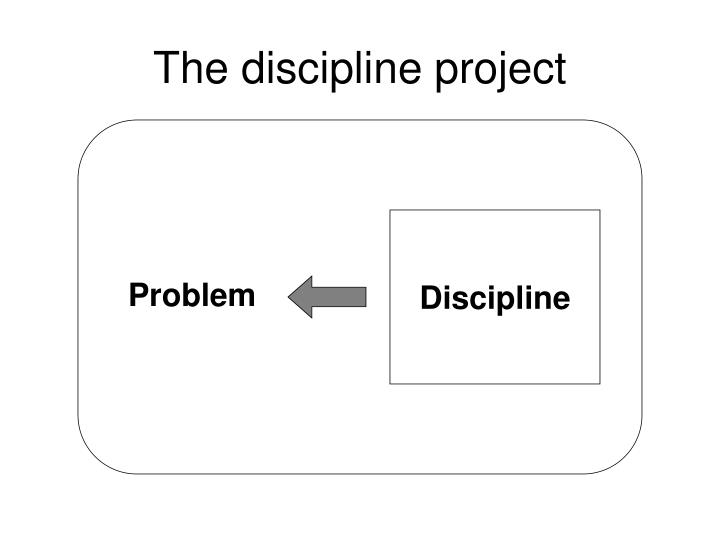 The discipline project