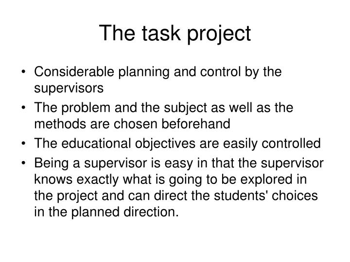 The task project
