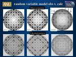 random variable model obs v calc