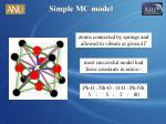 simple mc model