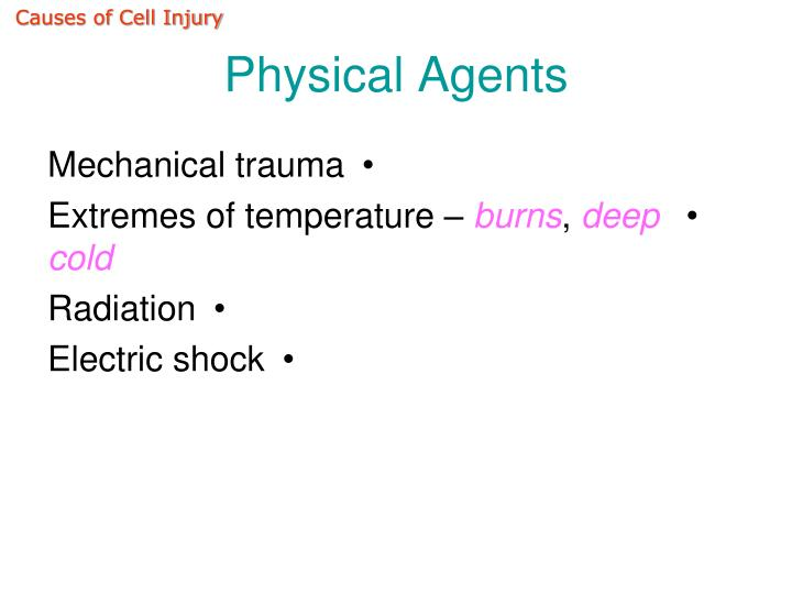 Causes of Cell Injury