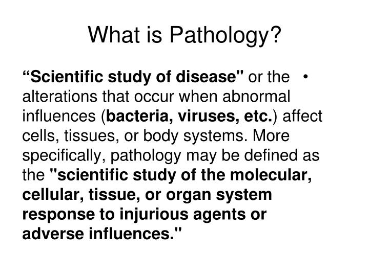 What is pathology