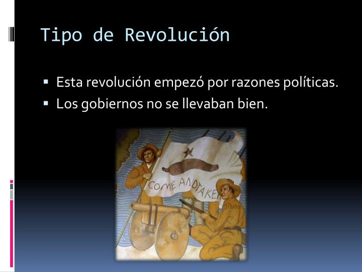 Tipo de Revolución