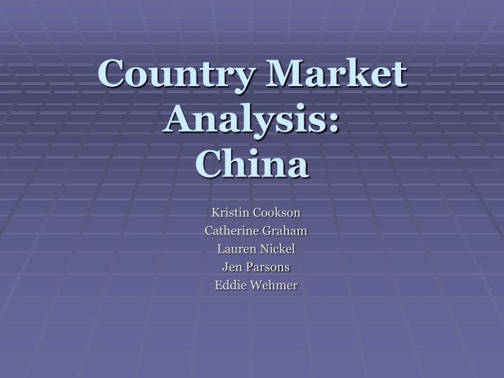 Country market analysis china