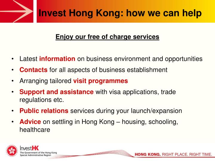 Invest Hong Kong: how we can help