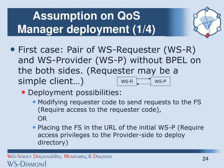 Assumption on QoS Manager deployment (1/4)