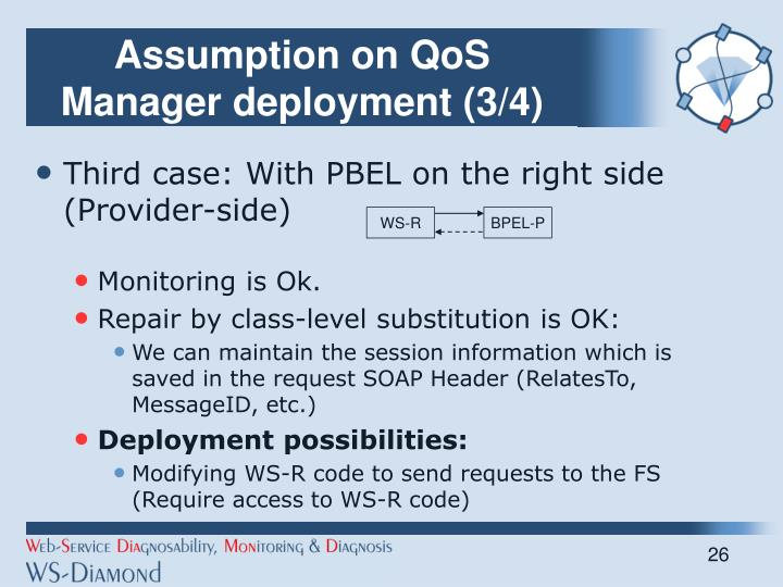 Assumption on QoS Manager deployment (3/4)