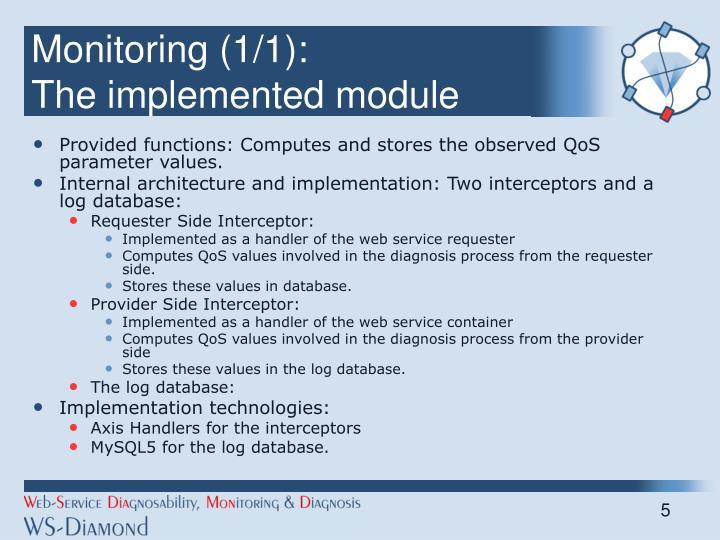 Monitoring (1/1):